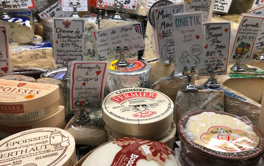 Cheeses at Queen Victoria Market