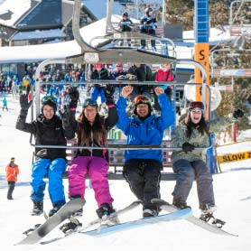 Mt Buller Tour - Riding the Chairlift